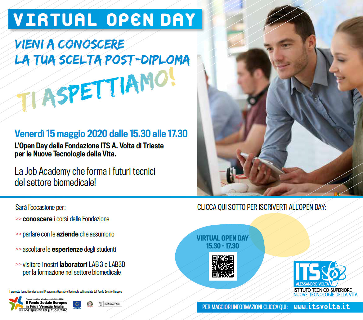 virtual open day ITS Volta